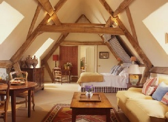 Rural French-style bedroom.