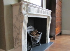 Carrara marble - 19th Century french chimney piece